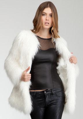 Bebe Marcie Oversized Faux Fur Coat