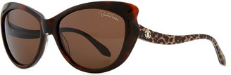 Roberto Cavalli Pointed-Temple Sunglasses, Red