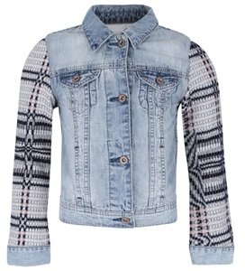 Scotch R'Belle Denim Jacket with Patterned Sleeves