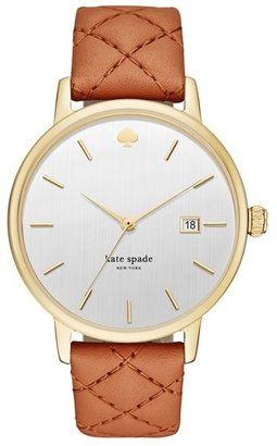 Women's Kate Spade New York 'Metro Grand' Quilted Strap Watch, 38Mm $195 thestylecure.com