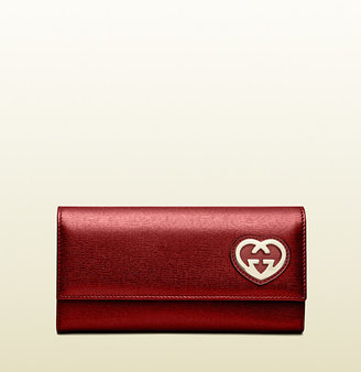 Gucci Shiny Leather Continental Wallet