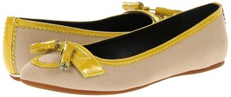 Burberry Brogue Detail Ballerinas (Trench/Lemon Quartz) - Footwear