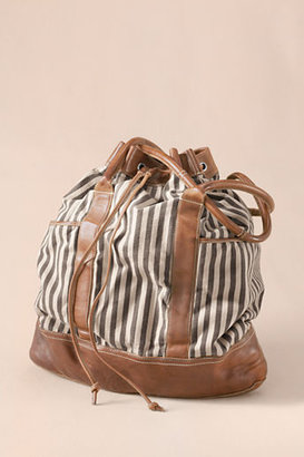 Lands' End Canvas Women's Striped Overnight Bag