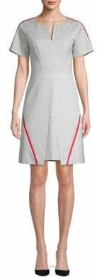 HUGO Striped Short-Sleeve Sheath Dress