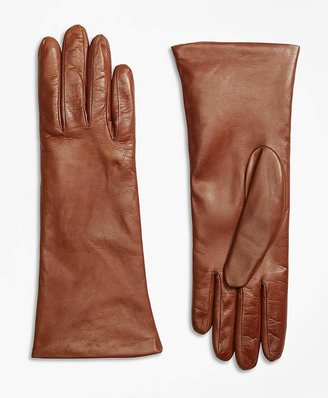 Cashmere Lined Leather Gloves $138 thestylecure.com