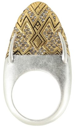 House Of Harlow Diamond Dome Ring (Yellow Gold) - Jewelry