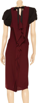 Roland Mouret Reed jersey and crepe dress