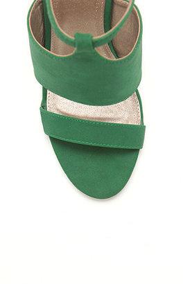 Qupid Ankle Strap Lucite Sandals