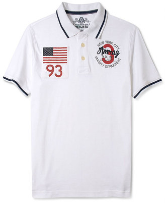 American Rag Shirt, Tipped Collar Short Sleeve Polo Shirt
