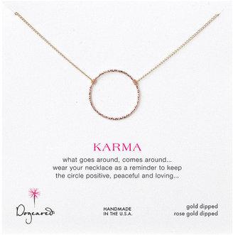 "Dogeared Medium Sparkle Karma Necklace, Gold/Rose Gold, 18"""" 1 Necklace"