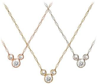 Disney Mickey Mouse Diamond Necklace 18K Gold Small