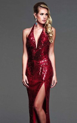 Mac Duggal Evening Gowns - 3987 Dress in Red
