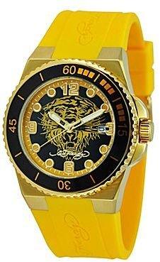 Ed Hardy Womens Yellow Dive Watch