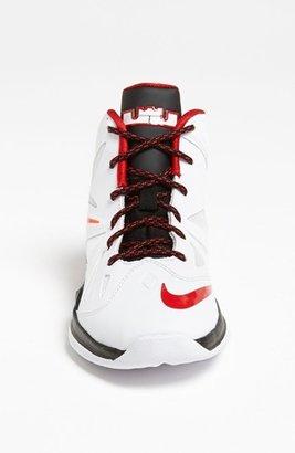 Nike 'LeBron 10 Pressure' Basketball Shoe (Toddler & Little Kid) White/ University Red/ Black 10.5 M