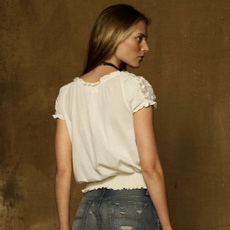 Denim & Supply Ralph Lauren Embroidered Jersey Peasant Top