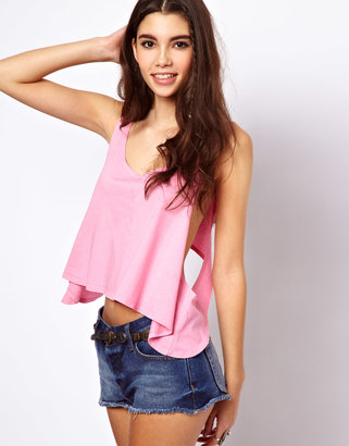 Asos Swing Crop with Scoop Back in Wash