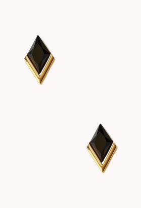 Forever 21 Faux Gemstone Diamond Studs