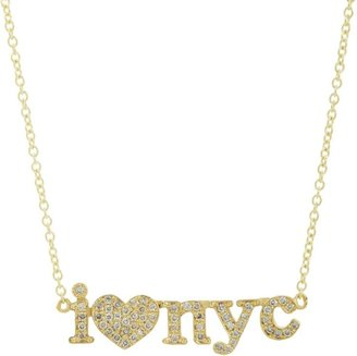 "Jennifer Meyer I Heart NYC"" Pendant Necklace-Colorless"