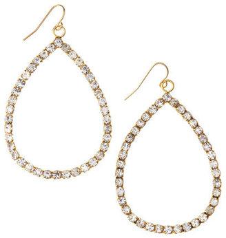 ABS by Allen Schwartz Faux-Crystal Pave Large Teardrop Earrings, Golden