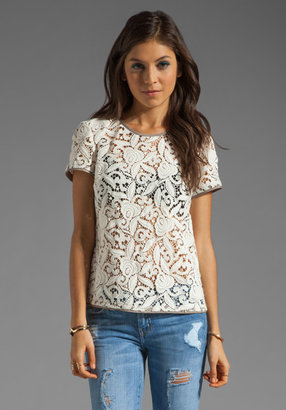 Juicy Couture Guipuere Lace Tee