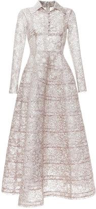 Rochas Bonded Lace Lurex Princess Dress
