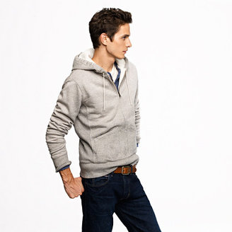J.Crew Wallace & Barnes waffle-lined zip hoodie