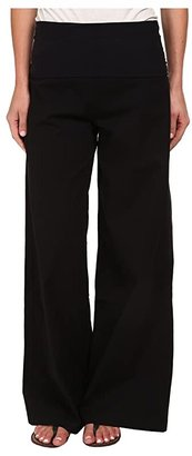 XCVI Fold-Over Palazzo (Black) Women's Casual Pants