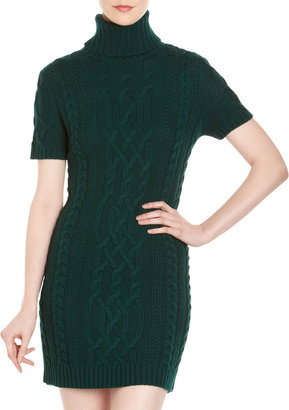 Yigal Azrouel Cut25 by Cable-Knit Sweater Dress, Evergreen