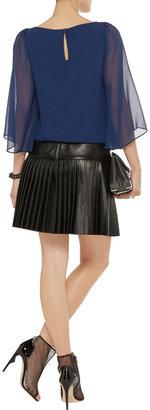 Alice + Olivia Briar silk-crepe top