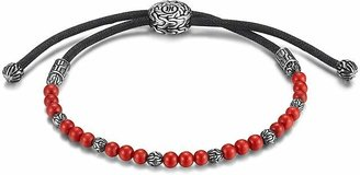 John Hardy Men's Sterling Silver Classic Chain Beaded Bracelet with Reconstructed Coral $250 thestylecure.com