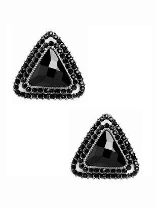 BaubleBar Onyx Triangle Studs