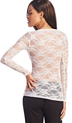 Wet Seal Lacey Long Sleeve Top