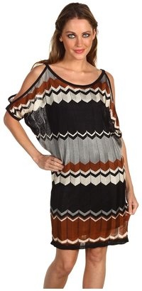 Hale Bob Designed To Mesmerize Zigzag Knit Dress (Black) - Apparel