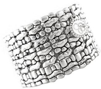 Jessica Simpson Bracelet, Silver-Tone Stretch Cuff