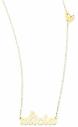 Jennifer Zeuner Jewelry Abigail-Style Personalized Name Necklace with Diamond Heart