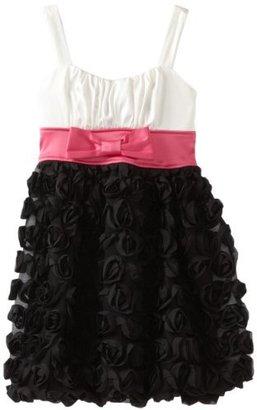 Ruby Rox Girls 7-16 Rosette Skirt Colorblock Dress