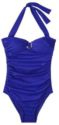 Sara Blakely ASSETS® By A Spanx® Brand Women's 1-Piece Swimsuit -Blue