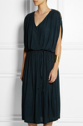 Lanvin Chain-trimmed stretch-jersey dress