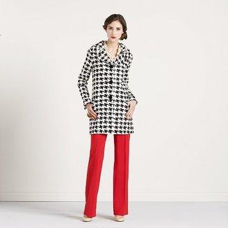 Kate Spade Houndstooth rose coat