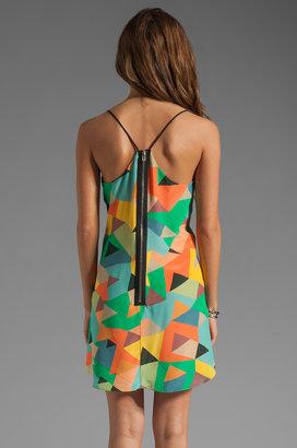 Milly Mosaic Print on Silk Crepe Alyce Tank Dress