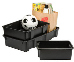 Container Store Large Trunk Tray Black