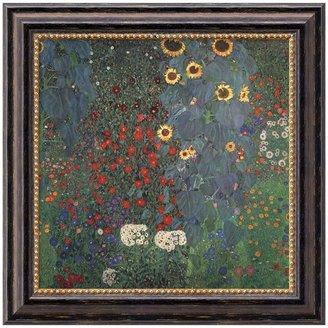 "Amanti art ""The Garden"" Framed Canvas Art by Gustav Klimt"