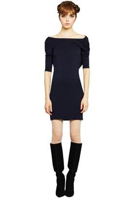 Alice + Olivia Half Sleeve Cowl Back Mini Dress
