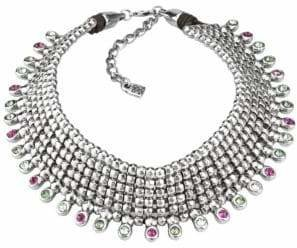 Uno de 50 Jungle Brilliant Silver Statement Bib Necklace