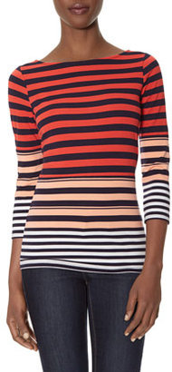 The Limited Graduated Stripes Long Sleeve Tee