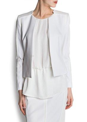 MANGO Textured panels jacket