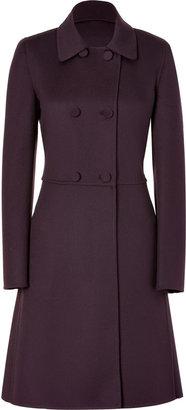 Salvatore Ferragamo Plum Wool-Cashmere Coat