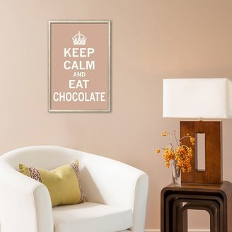"Art.com ""Keep Calm and Eat Chocolate"" Framed Art Print"