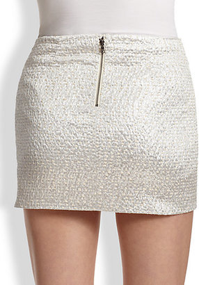 Alice + Olivia Elana Metallic Mini Skirt