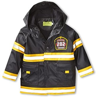 Western Chief F.D.U.S.A. Firechief Raincoat (Toddler/Little Kids/Big Kids) (Black) Boy's Coat